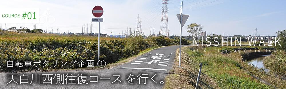 天白川西側往復コース を行く。