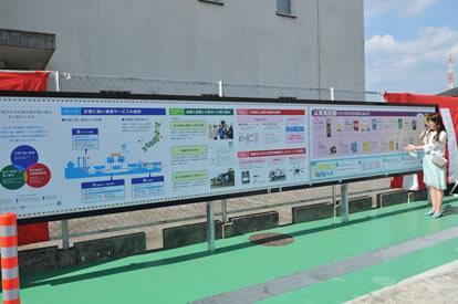 展示パネルでは、NTT西日本さんの災害対策や公衆電話の歴史を紹介しています。
