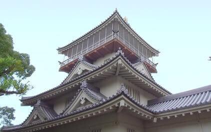 岩崎城外観